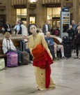 Eiko at Philadelphia Amtrak Station