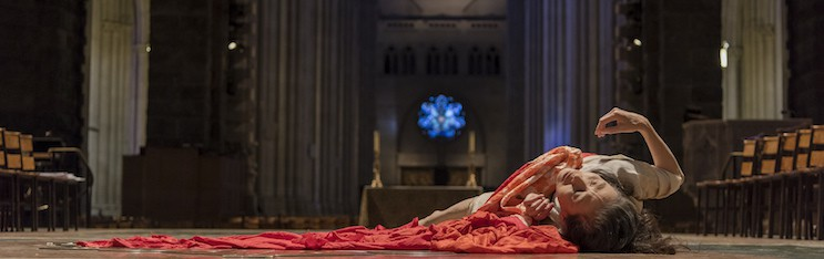 From Nora Thompson on Eiko's open rehearsal at the Cathedral of St. John the Divine